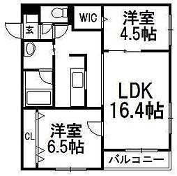 クレストハウス1816[3階]の間取り