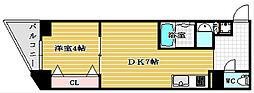 サムティ阿波座べルシア[4階]の間取り