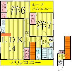 アパートメントダイナ[2階]の間取り
