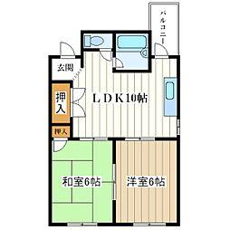 ダイシンコーポ[5階]の間取り