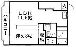 ルームミニオンB[202号室]の間取り