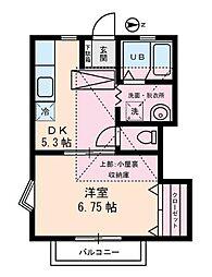 東京都杉並区荻窪2丁目の賃貸アパートの間取り