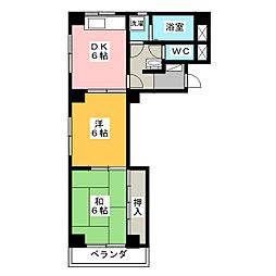 CITY萬灯[4階]の間取り