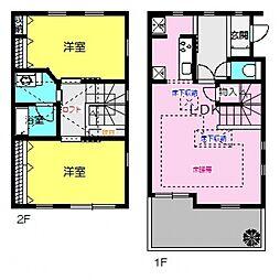 [タウンハウス] 神奈川県横浜市都筑区牛久保東1丁目 の賃貸【/】の間取り