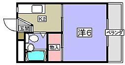 フロンティア長尾II[1階]の間取り