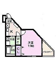 田井戸ハウス2[2階]の間取り