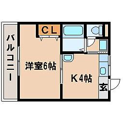 兵庫県明石市大久保町駅前2丁目の賃貸アパートの間取り