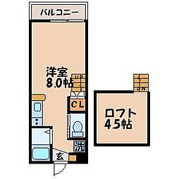 ディノ三原 B棟[201号室]の間取り