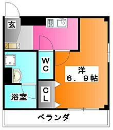 b`CASA K、Higashijujo[3階]の間取り