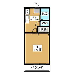 リズミラル−U[2階]の間取り