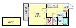 エクセル立花[1階]の間取り