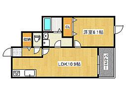 グランマーリエ 3階1LDKの間取り