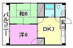 スペース21[301 号室号室]の間取り