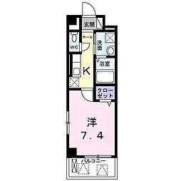 ソレイユ オクナガ 武庫之荘[2階]の間取り