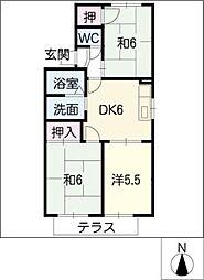 シャンポール C棟[1階]の間取り