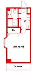 コムズワン -COM'S-1-[4階]の間取り