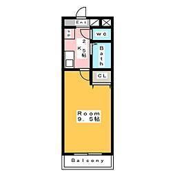 A・City東新町[4階]の間取り