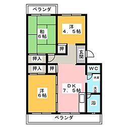パステルハイツ[3階]の間取り