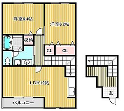 プロムナード弐番館[2階]の間取り