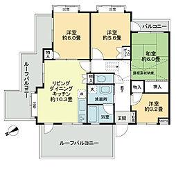 キャニオンマンション東中野[3階]の間取り