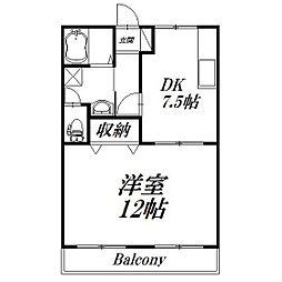 静岡県浜松市中区幸2丁目の賃貸アパートの間取り