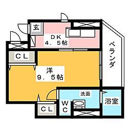 グランコーナ高崎[4階]の間取り
