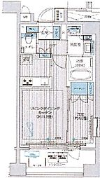 イニシア築地レジデンス 8階1LDKの間取り