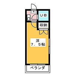 プレジデントKiMuRa[3階]の間取り