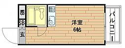 ジュネスアマリ[4階]の間取り