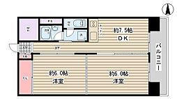 777ハイツ[4階]の間取り