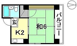 コーポ西村[201 号室号室]の間取り