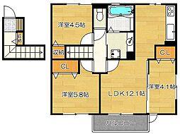木犀館II[2階]の間取り