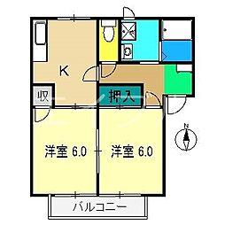 ファミール一柳 B棟[2階]の間取り