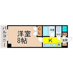レージュ松原[305号室]の間取り