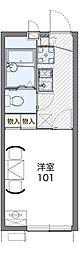 JR阪和線 北信太駅 徒歩8分の賃貸アパート 1階1Kの間取り