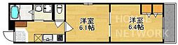 京都府京都市上京区三丁町の賃貸マンションの間取り
