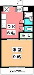 マンションふじ[506号室]の間取り