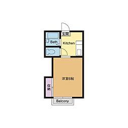 ハイツハーモニーI[2階]の間取り