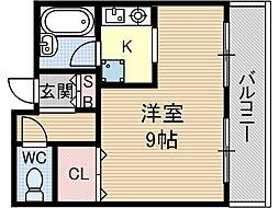 プレッジハイツ[1階]の間取り