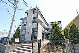 埼玉県三郷市幸房の賃貸アパートの外観