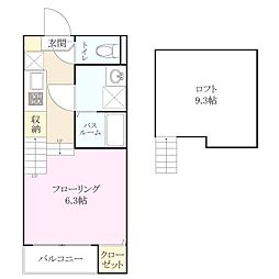 新築アパート TYPE-D[1階]の間取り