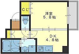 ブリエ東大阪[5階]の間取り