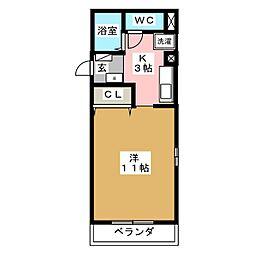 ラ・メゾンドールⅡ[3階]の間取り