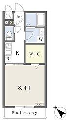 JR総武線 幕張本郷駅 徒歩5分の賃貸アパート 1階1Kの間取り