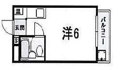 神栄ハイツ[3階]の間取り