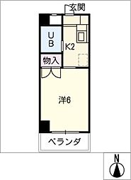 安田学研会館南・北棟[3階]の間取り
