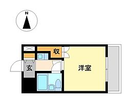 栃木県宇都宮市江曽島1丁目の賃貸マンションの間取り