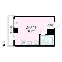 F BOX HOUSE[207号室]の間取り