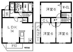 [タウンハウス] 大阪府東大阪市河内町 の賃貸【/】の間取り