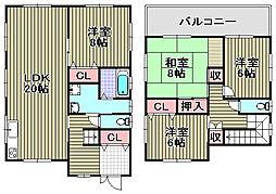 [一戸建] 大阪府泉南市信達大苗代 の賃貸【/】の間取り